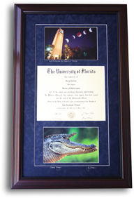 UF Diploma framing Gainesville Florida